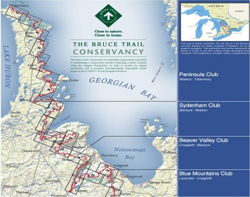 bruce trail map