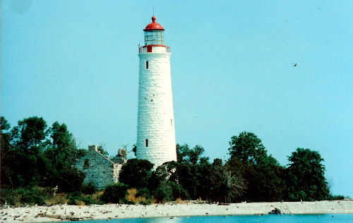 Chantry Island Lighthouse before restoration