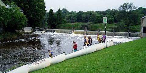 paisley saugeen river canoe