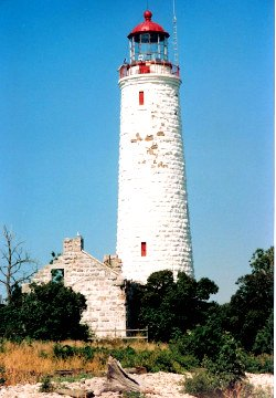 Chantry Island Lighthouse and buildings