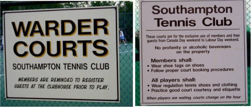 Southampton Tennis Club Warder Courts